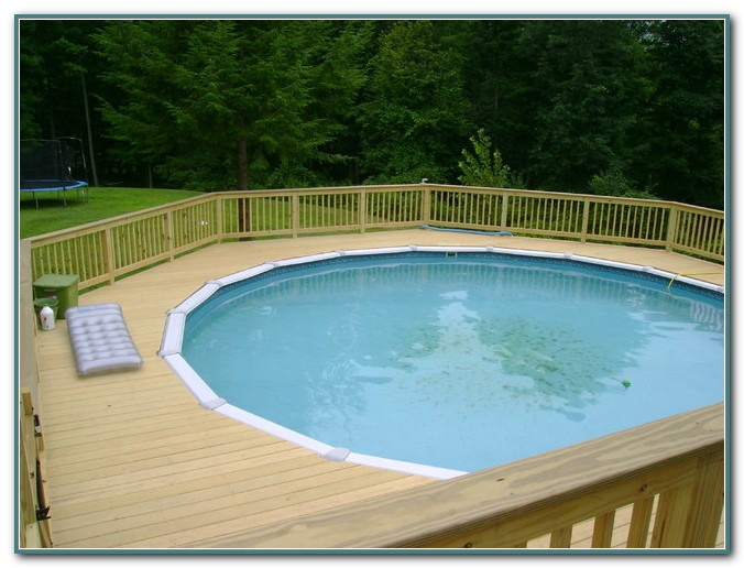 Round Above Ground Pool Decks Plans