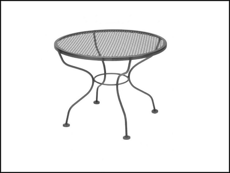 Round Patio Coffee Table With Umbrella Hole