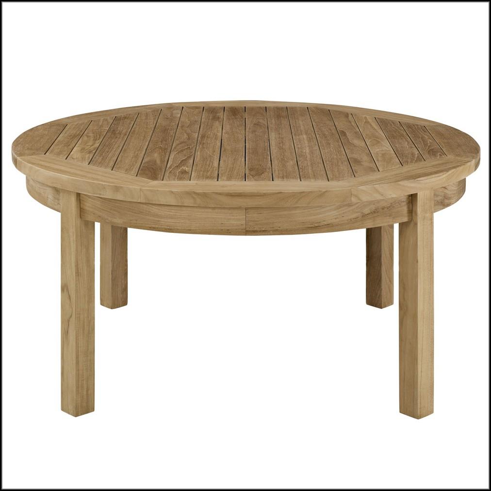Round Teak Patio Coffee Table