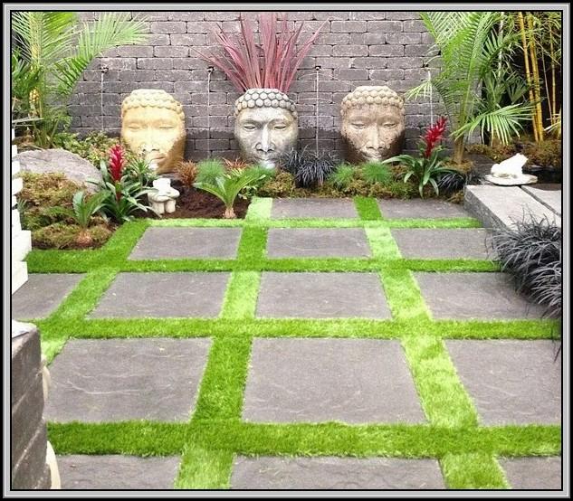 Rubber Patio Tiles Over Grass