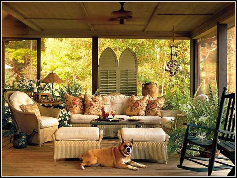 Screened Porch Ideas Furniture