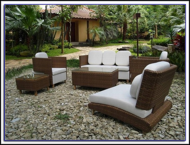 Sears Outdoor Patio Wicker Furniture Set