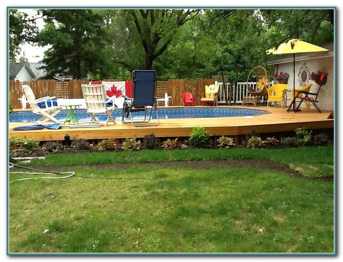 Semi Inground Pool Deck Designs