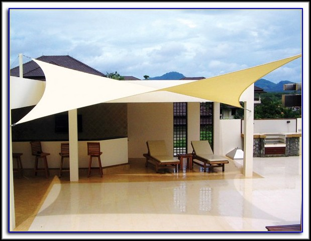 Setting Up Sail Shade For Patio