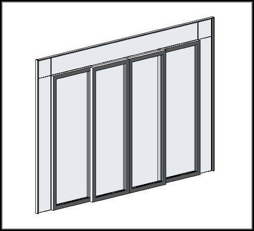 Sliding Door Curtain Panel Revit