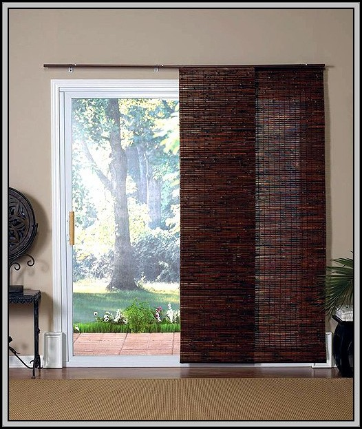 Sliding Door Curtain Panel Set
