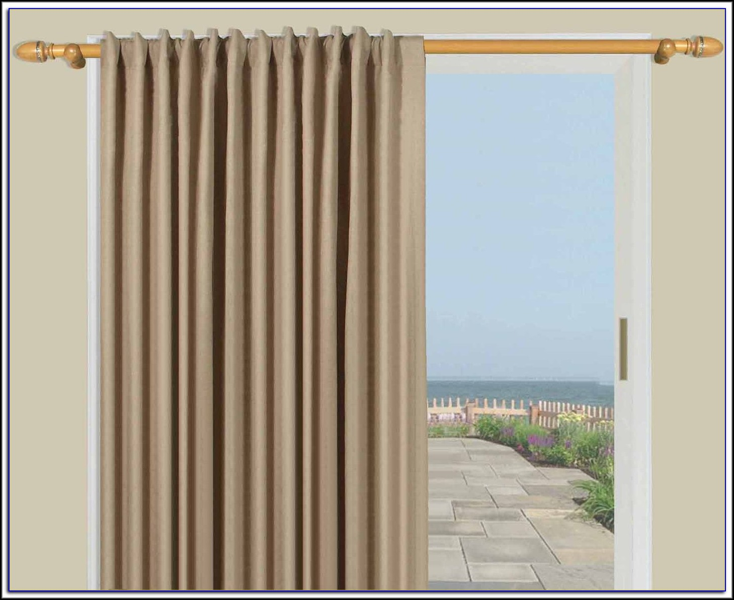 Sliding Door Curtain Rod Size