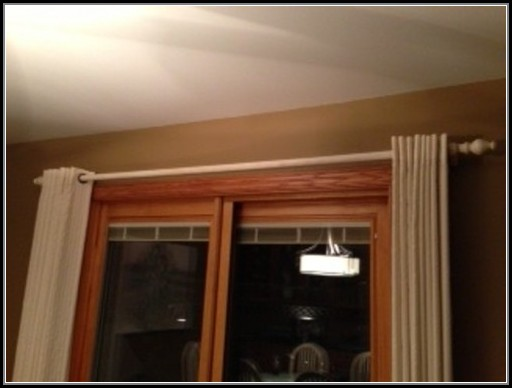 Sliding Door Curtain Rod Without Center Bracket