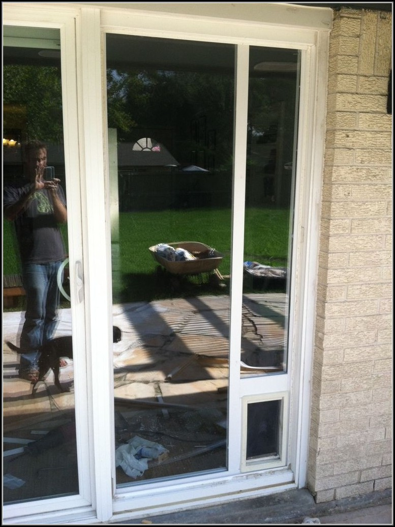 Sliding Door Dog Door Installation