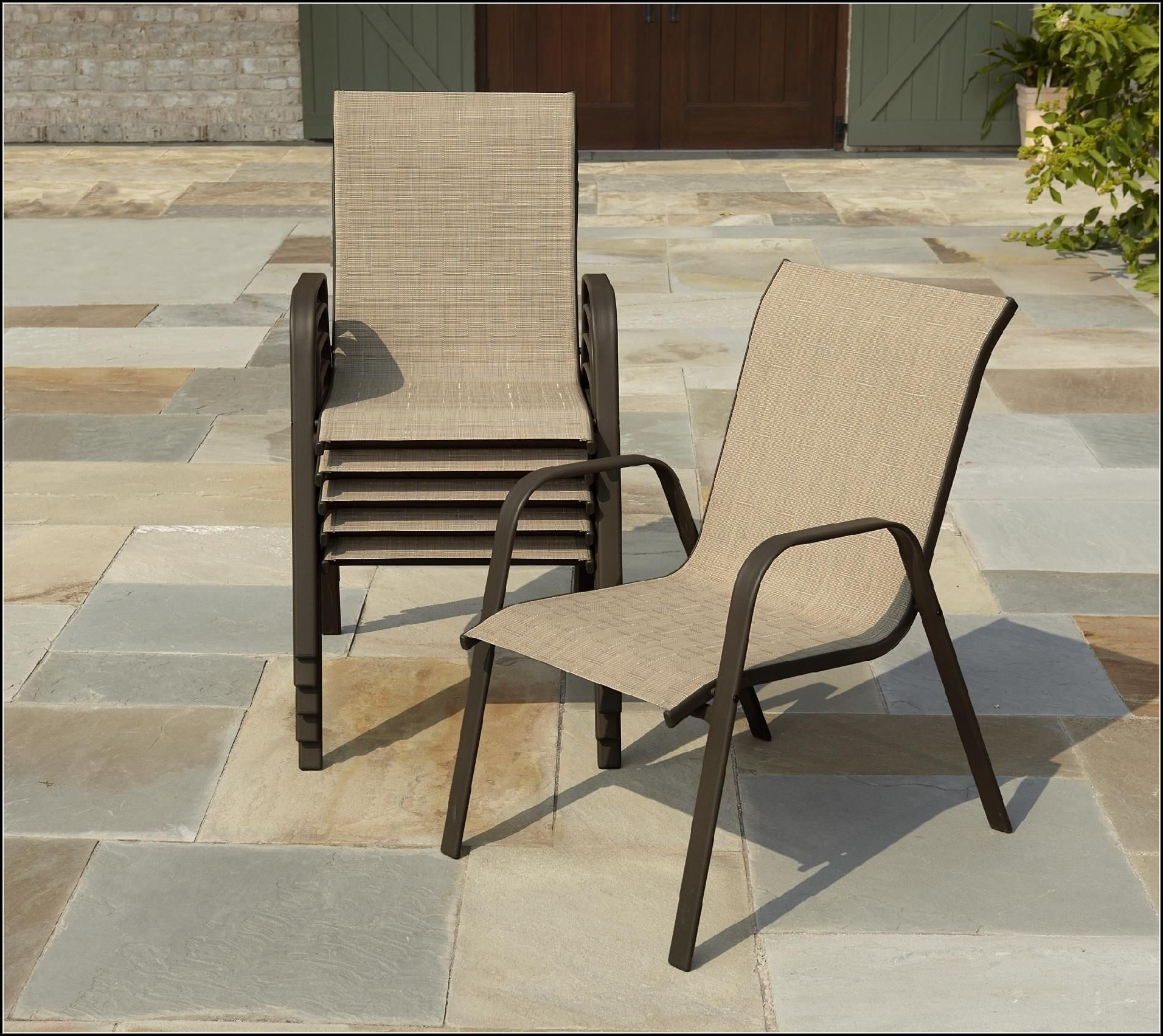 Slingback Patio Chairs With Ottoman
