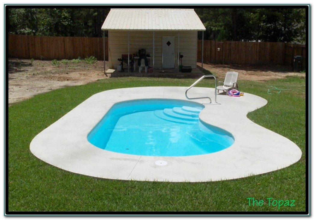 Small Inground Fiberglass Pools