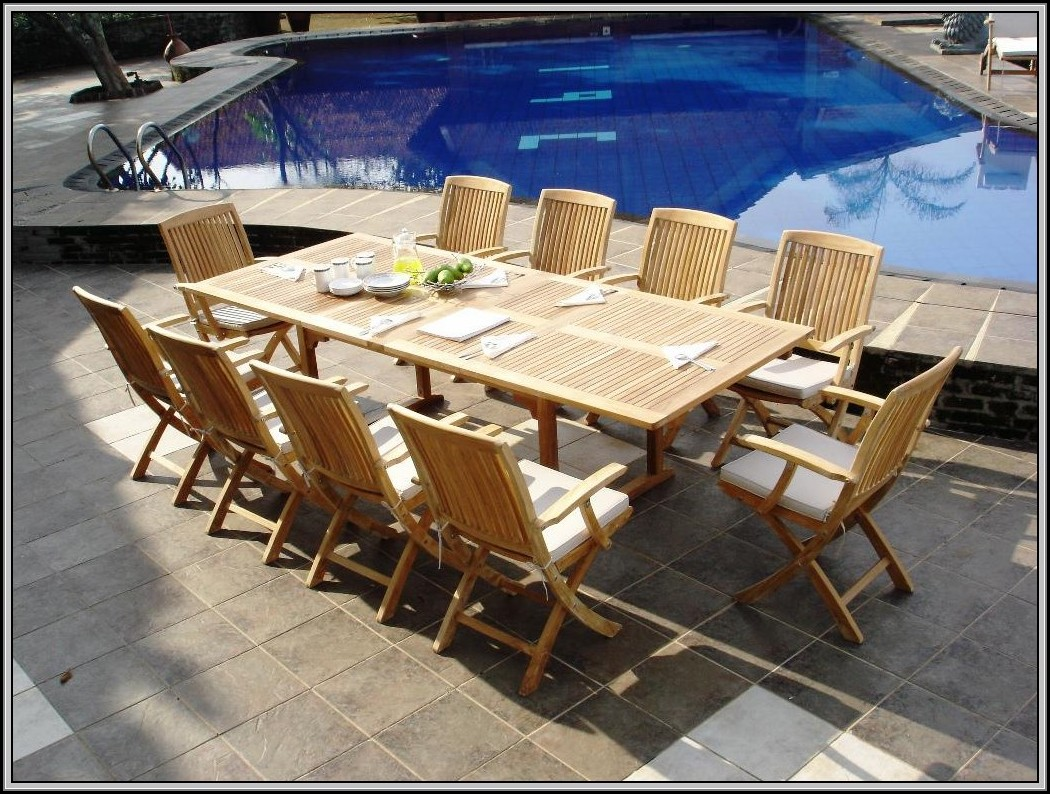 Smith And Hawken Teak Outdoor Table