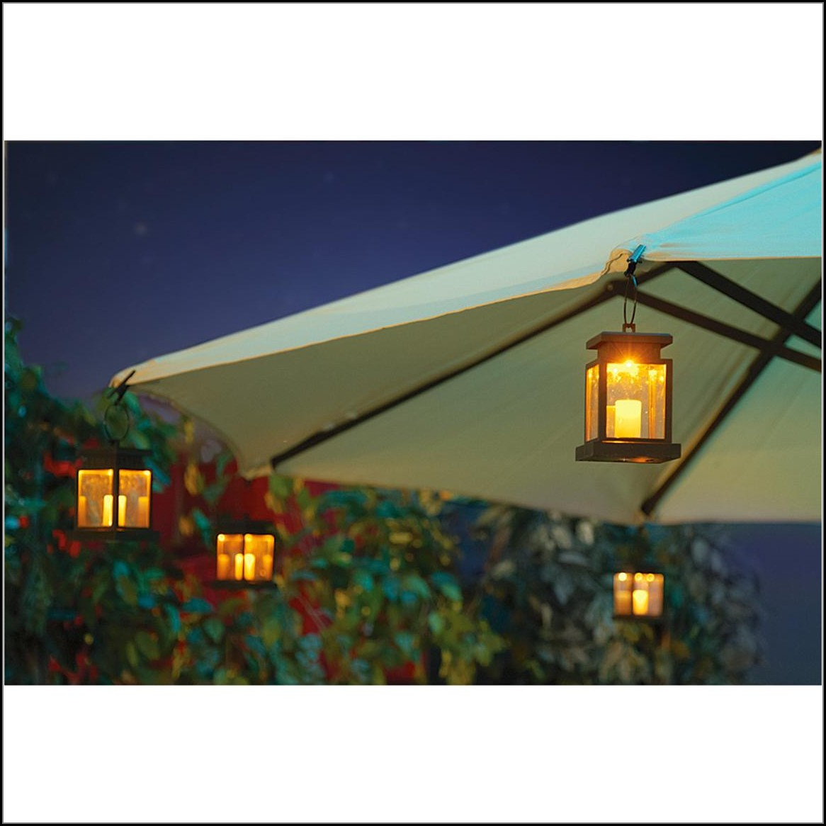 Solar Patio Umbrella Clip Lights