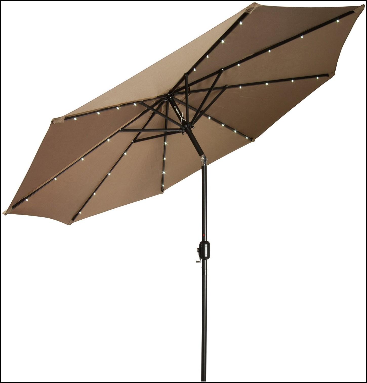 Solar Powered Led Patio Umbrella
