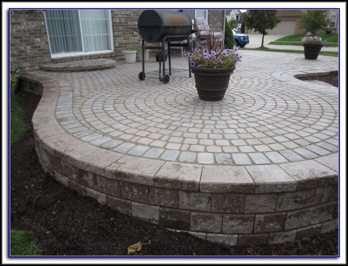 Square Paver Patio Pictures