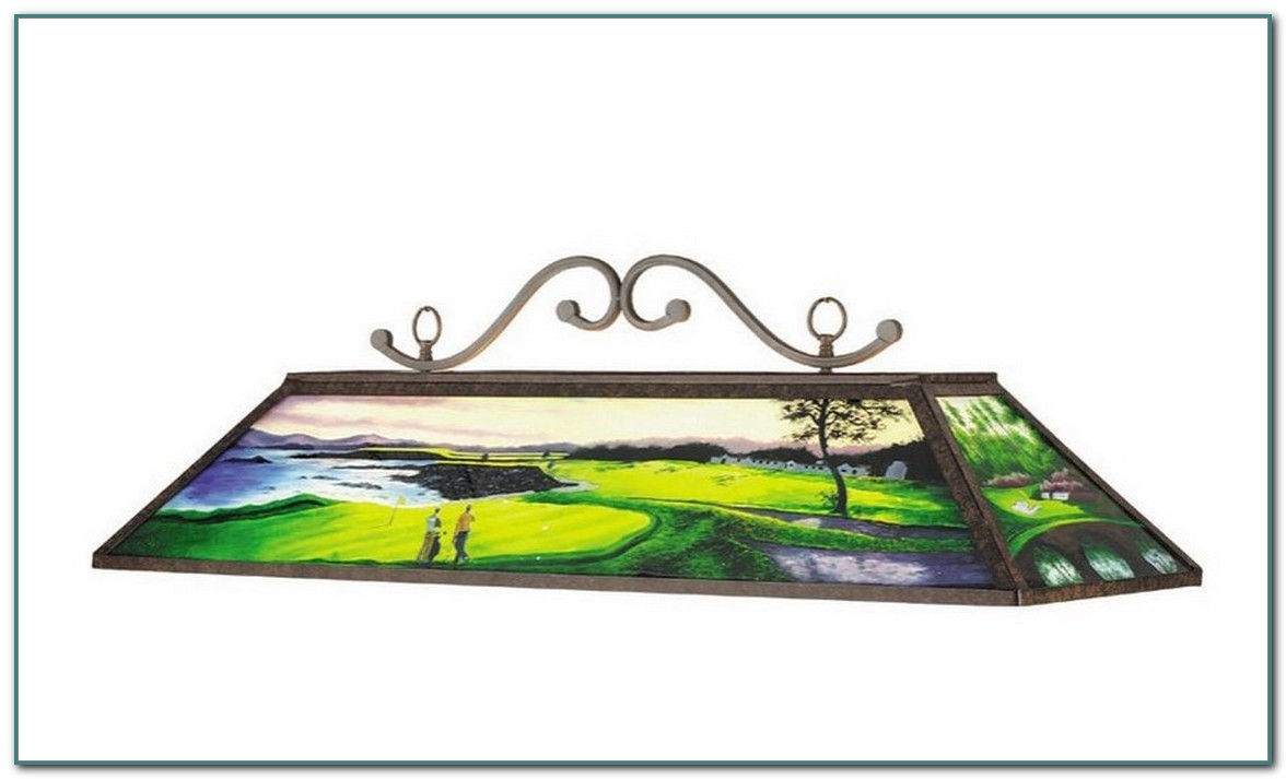 Stained Glass Pool Table Light Patterns