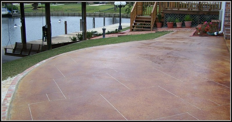 Staining Concrete Patio Ideas
