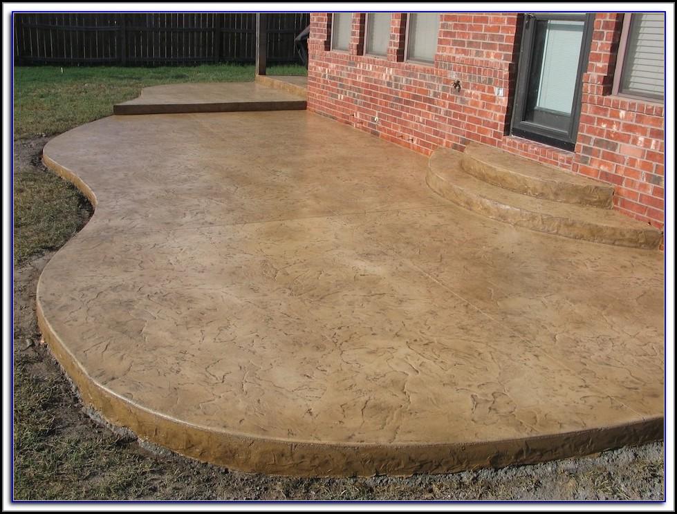 Staining Concrete Patio Youtube