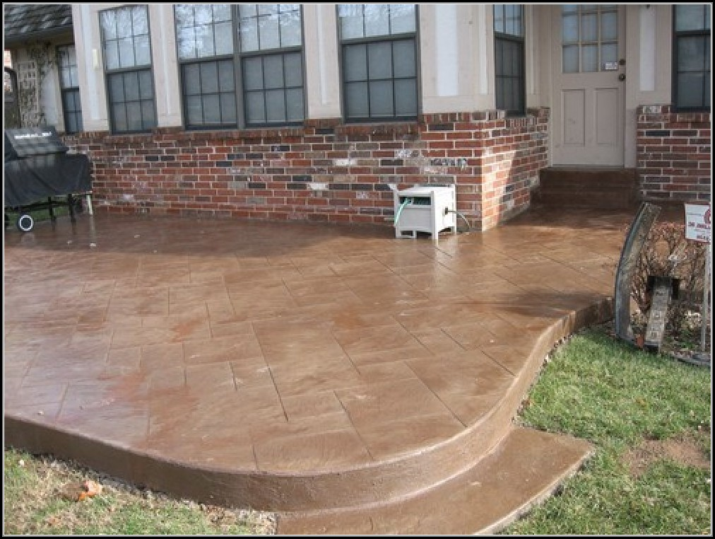 Stamped Concrete Patios Designs