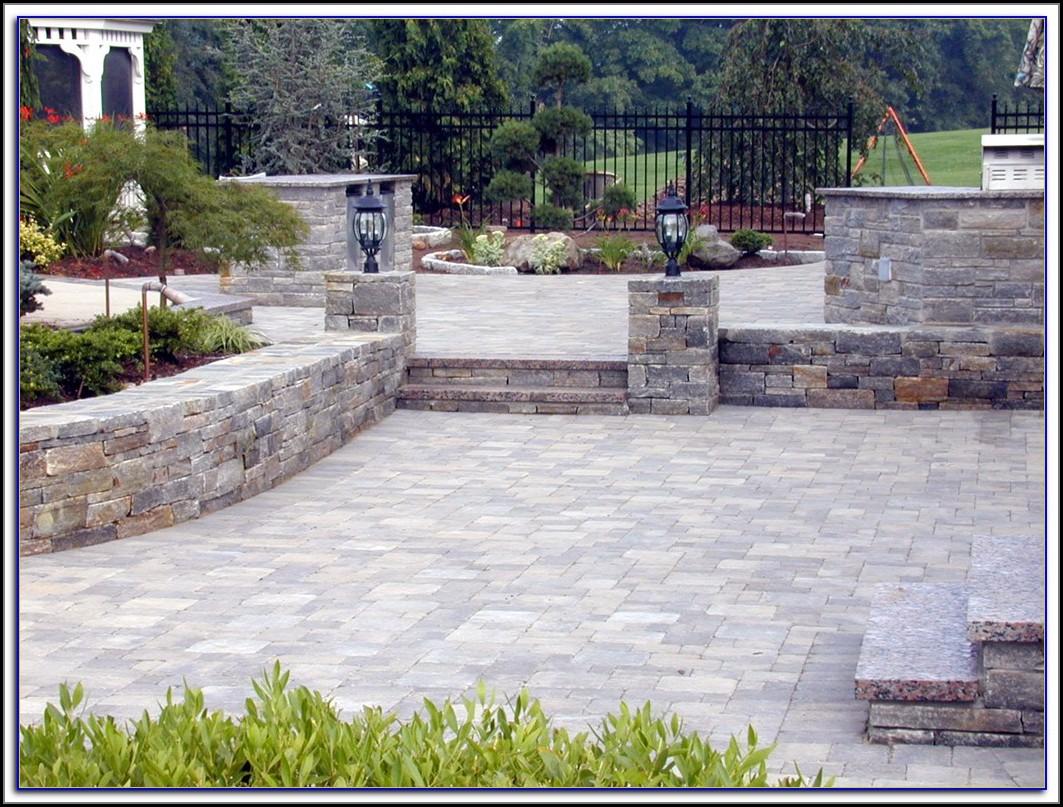 Stone Paver Patio Installation