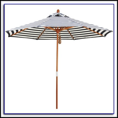 Striped Patio Umbrella Tilt