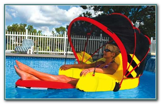 Swimming Pool Lounger With Canopy