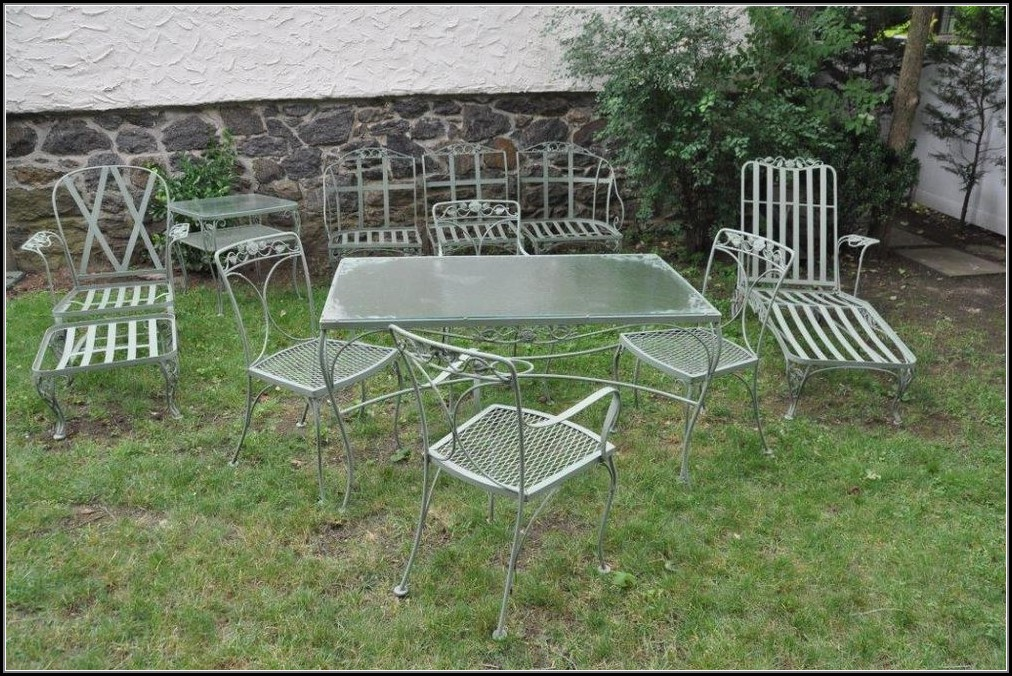 Vintage Wrought Iron Patio Furniture Cushions