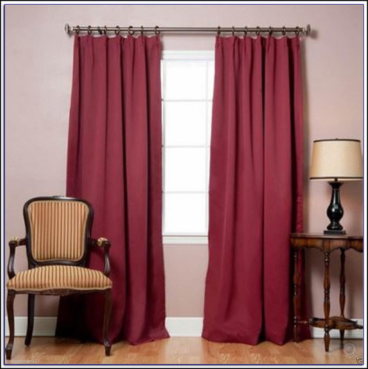 White Blackout Patio Door Curtains