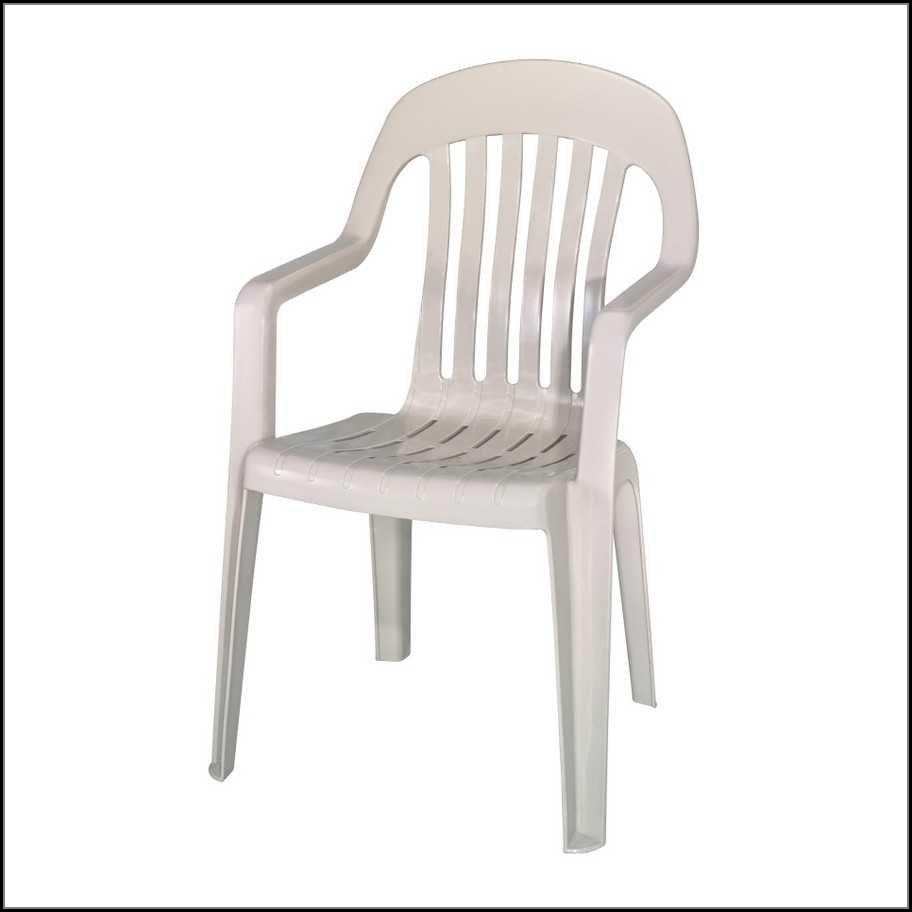 White Plastic Patio Chairs