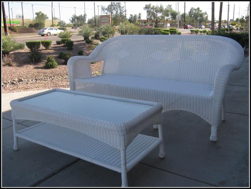 White Resin Wicker Patio Furniture Canada