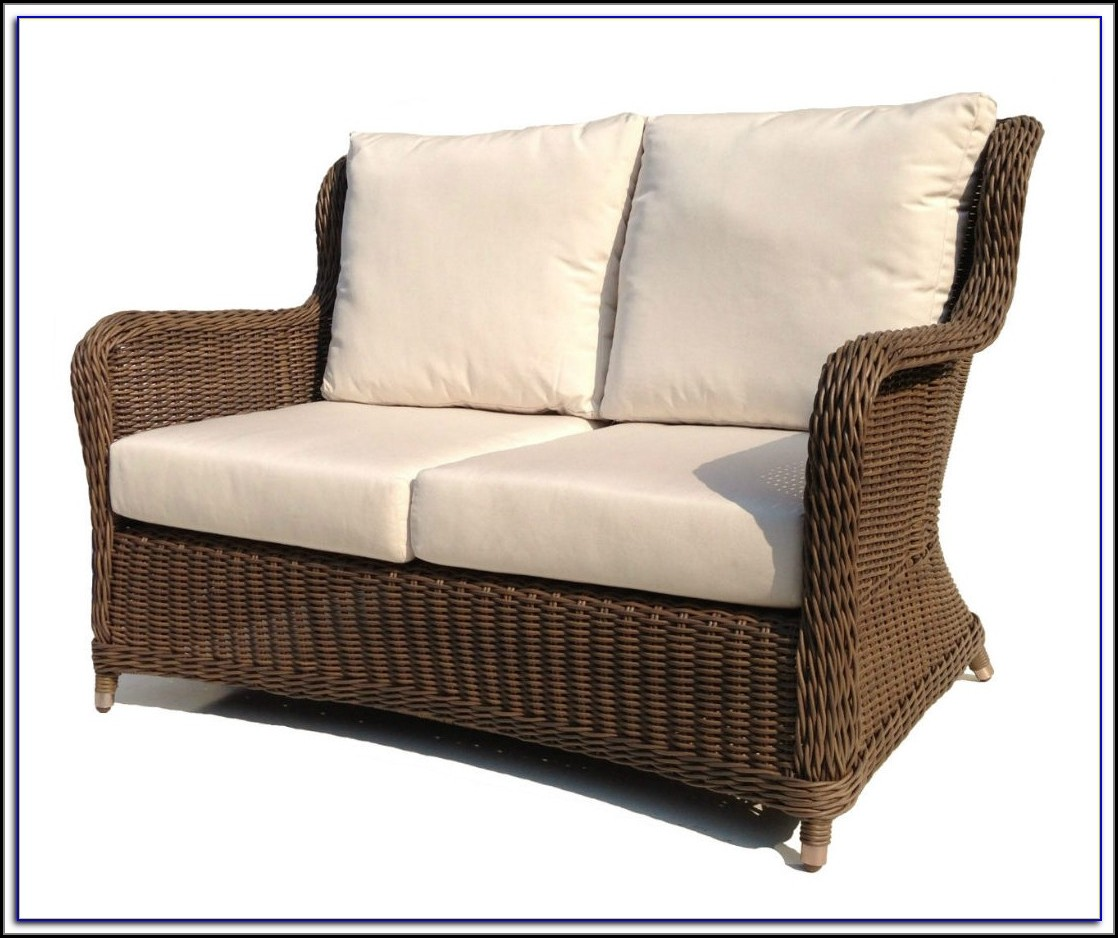 Wicker Loveseat Patio Set
