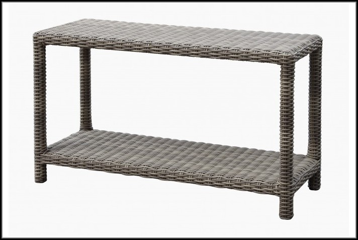 Wicker Outdoor Sofa Table