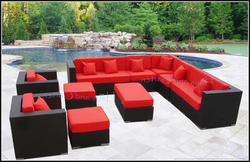 Wicker Patio Sectional Sofa