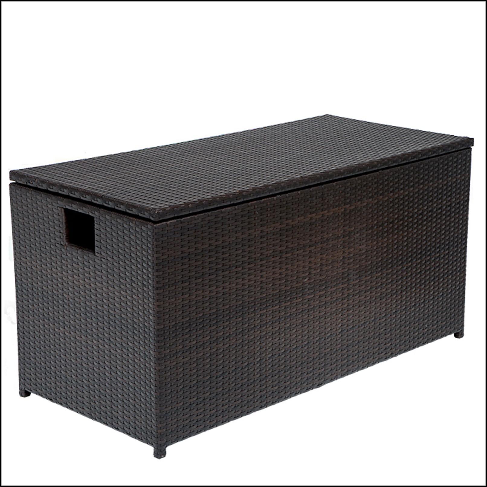 Wicker Patio Storage Chest