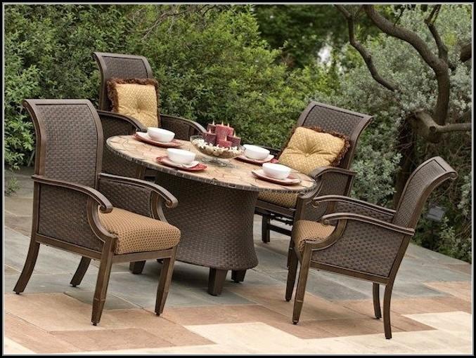 Wicker Patio Table Set