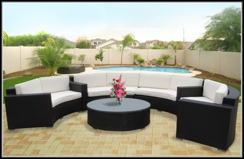 Wicker Sectional Patio Furniture Sets