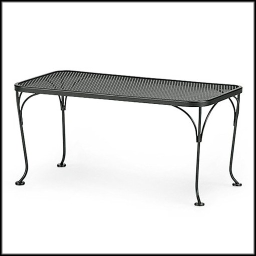 Woodard Wrought Iron Patio Coffee Table