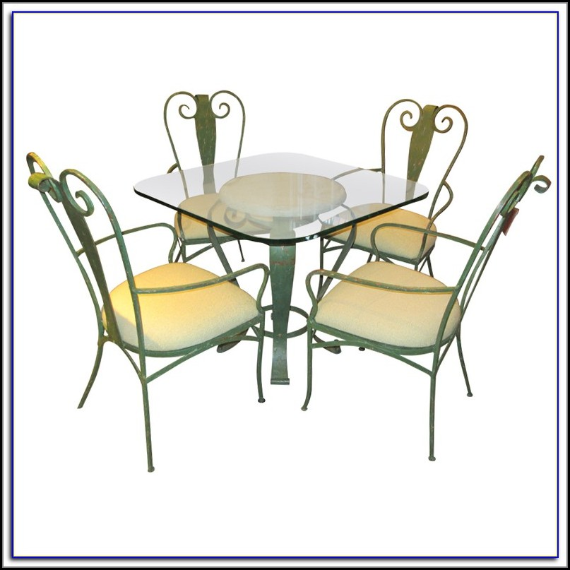 Woodard Wrought Iron Patio Table And Chairs