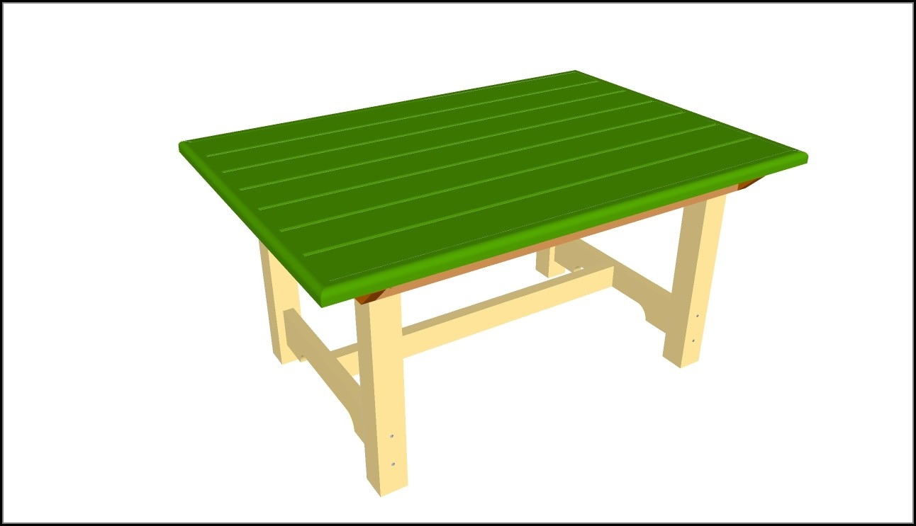 Wooden Patio Table Plans Free