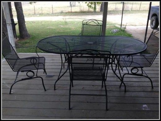 Wrought Iron Patio Set 7 Piece