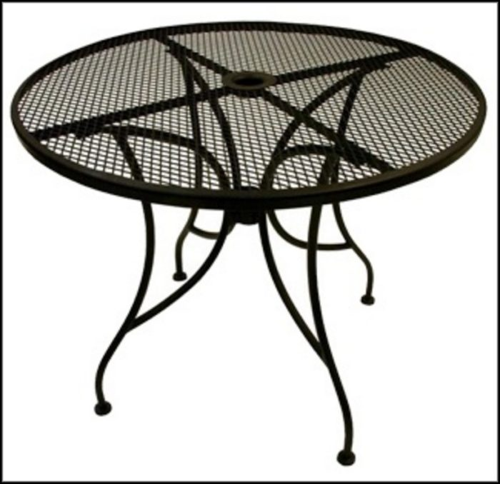 Wrought Iron Patio Table Round