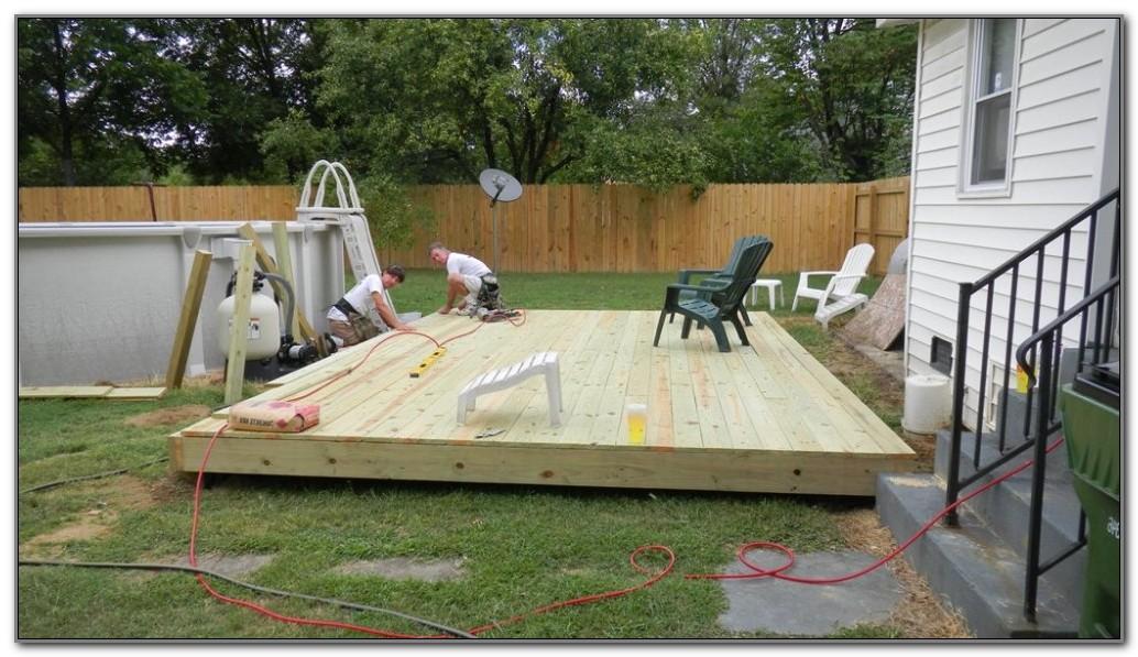 12 X 12 Ground Level Deck Plans