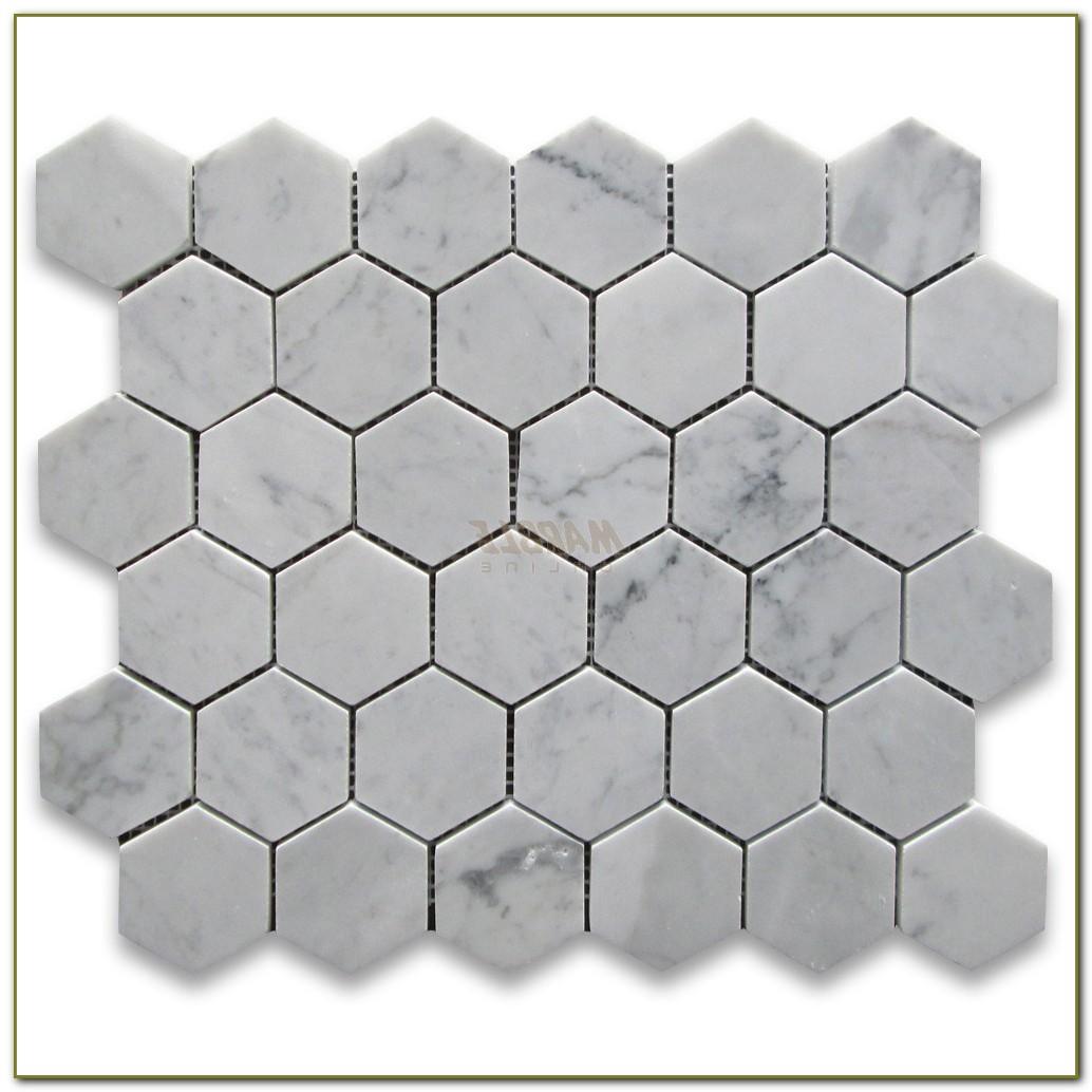 2 Hexagon Carrara Marble Tile