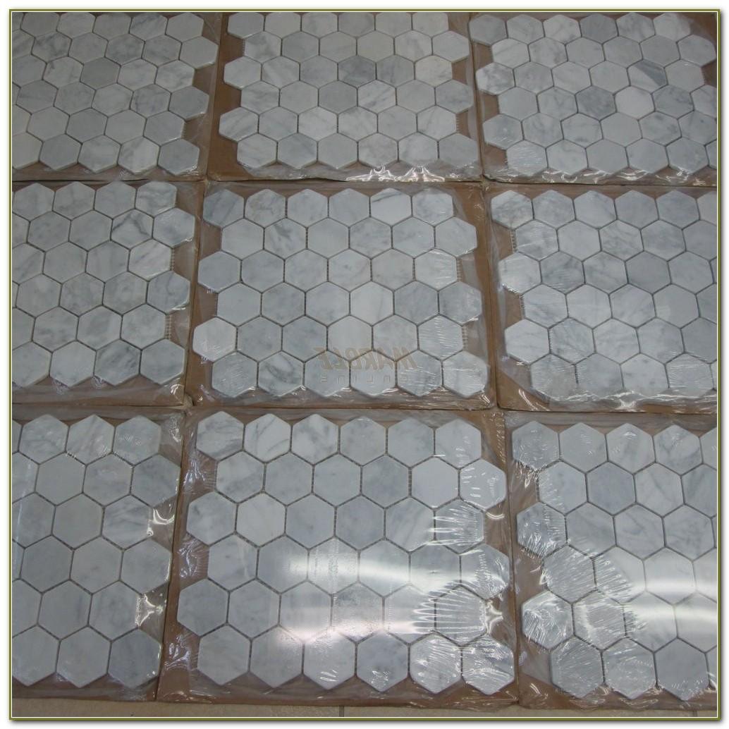 2 Inch Hexagon Carrara Marble Tile