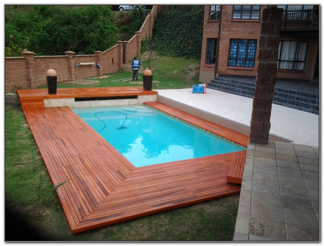 25 Stone Pool Deck Design Ideas