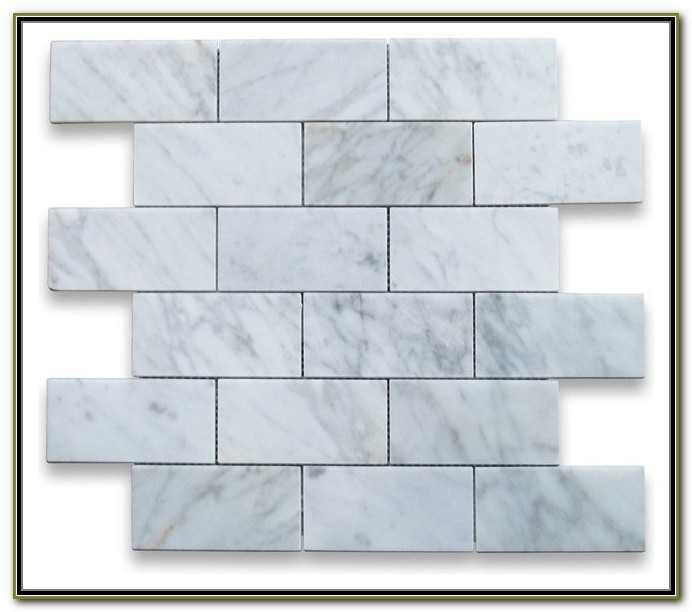 2x4 Carrara Marble Subway Tile