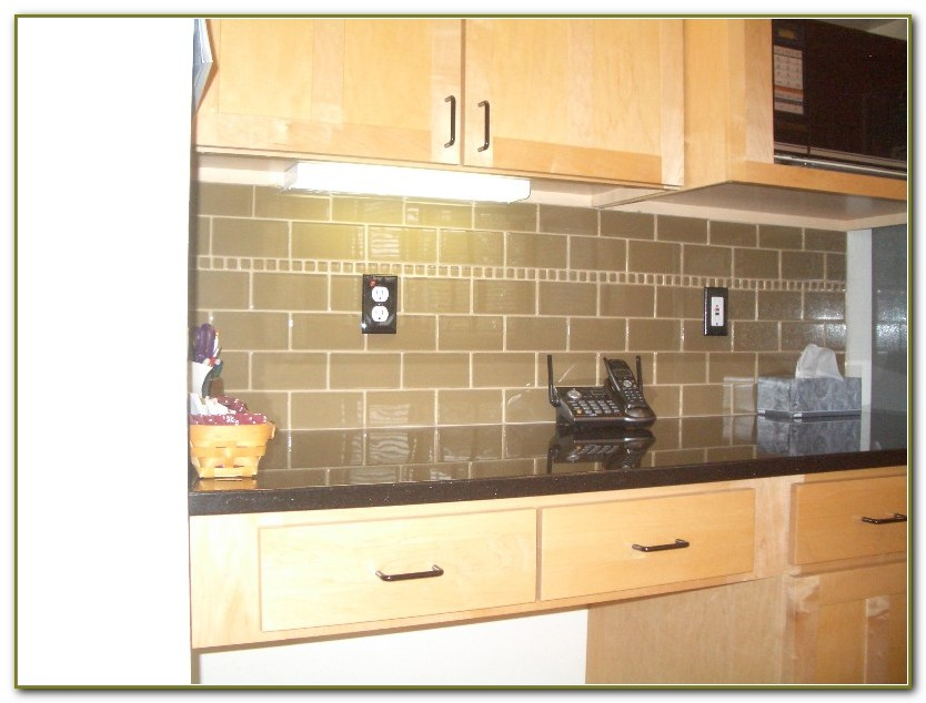 3x6 Glass Subway Tile Backsplash