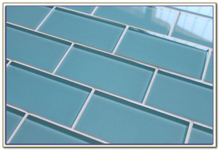 3x6 Glass Subway Tile Blue