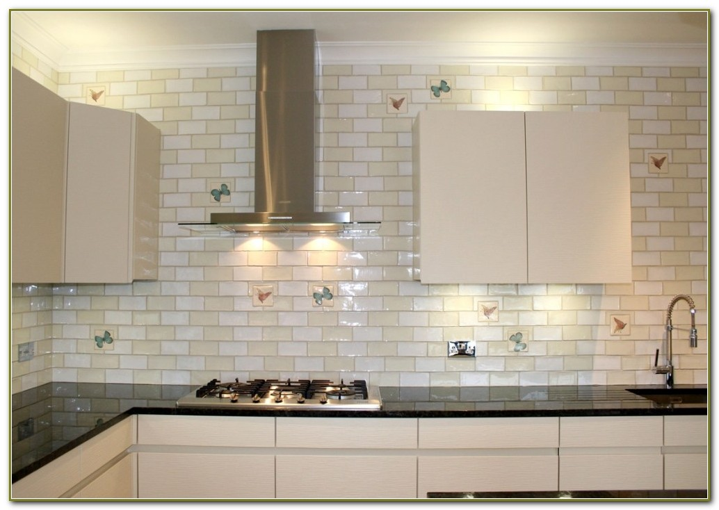 3x6 White Subway Tile Backsplash