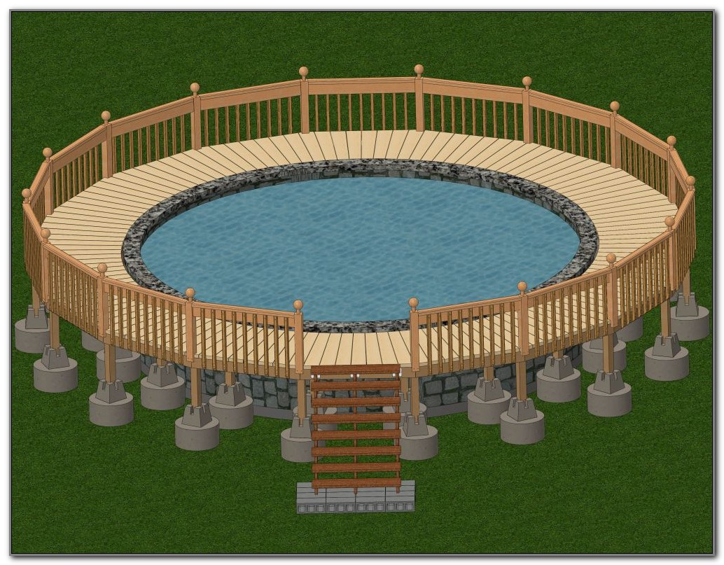 Above Ground Pool Deck Building